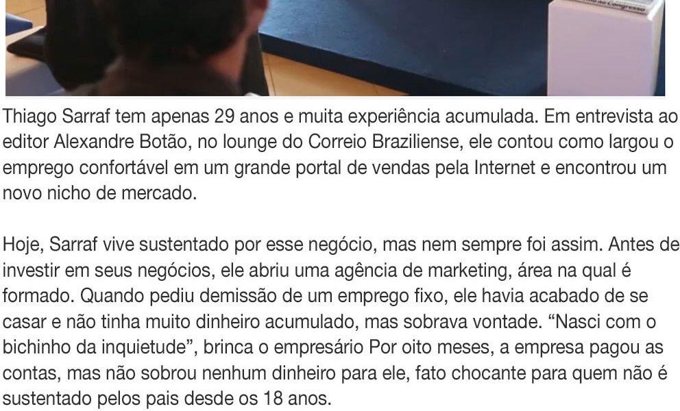Matéria Portal Correio Brasiliense