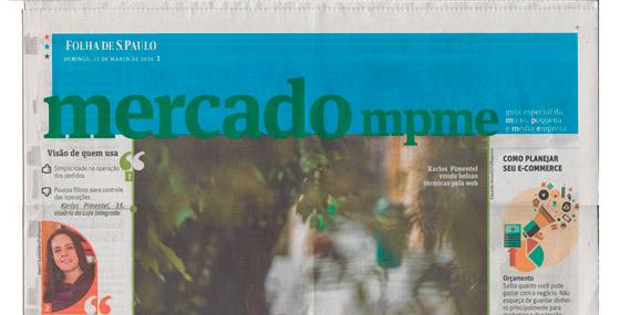 Dr. e-commerce no Caderno Mercado mpme da Folha