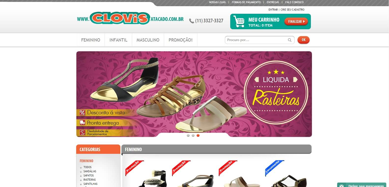5cf713937 Clovis Calçados Atacado - Doutor E-commerce